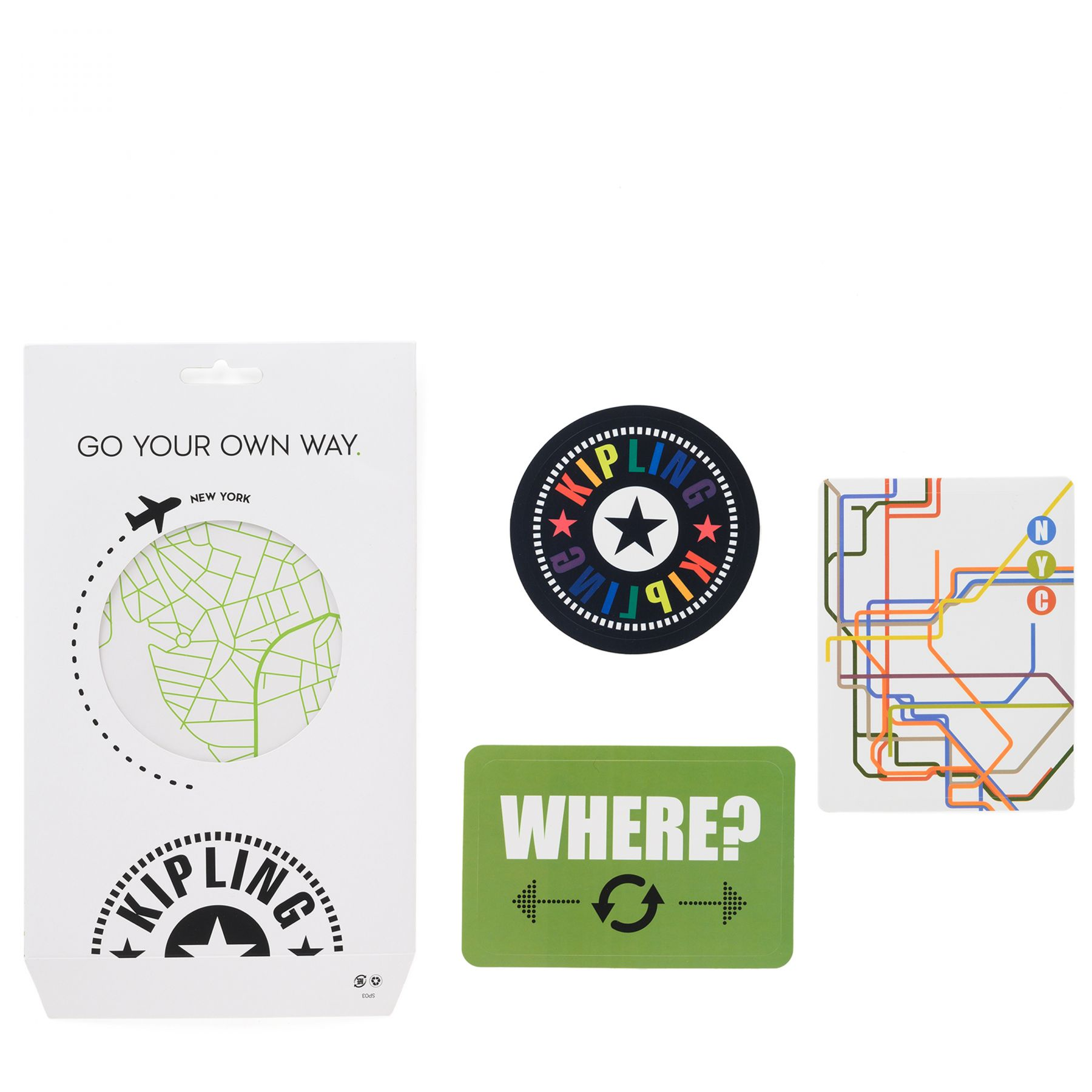 STICKER SET MAP Latest Accessories by Kipling - Front view