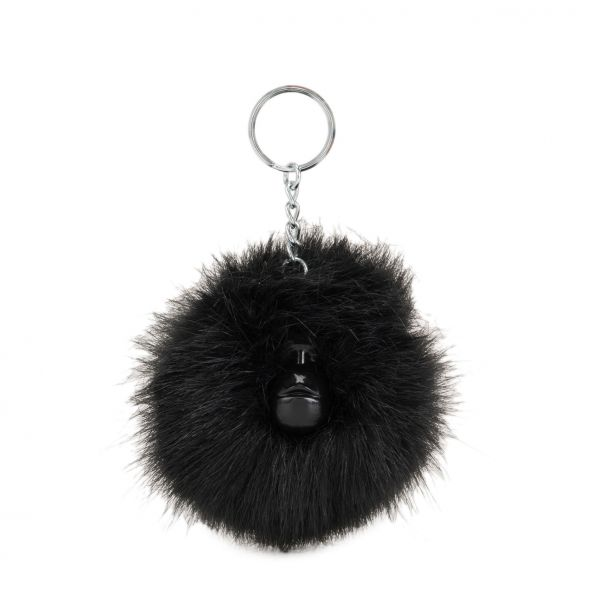 POMPOM MONKEY E True Black MONKEYS & KEYHANGERS by Kipling Front