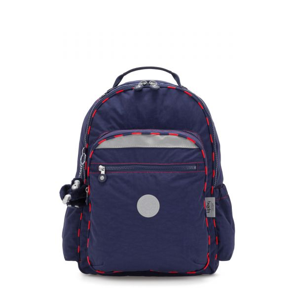 SEOUL GO LIGHT UP Polished Bl Light BACKPACKS by Kipling Front