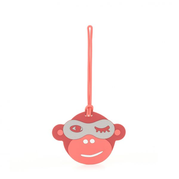 MONKEY FUN TAG Pink Monkey Face PRODUCT EXTENSIONS by Kipling Front