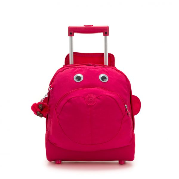 BIG WHEELY True Pink CARRY ON by Kipling Front