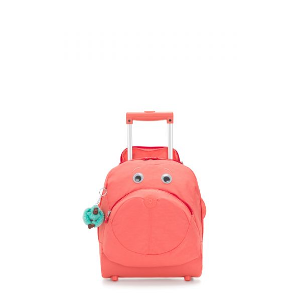 BIG WHEELY Peachy Pink C CARRY ON by Kipling Front