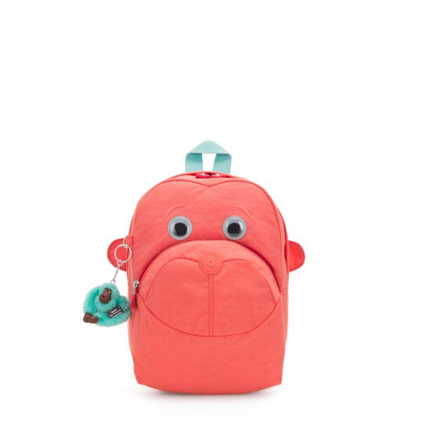 FASTER Peachy Pink C BACKPACKS by Kipling Front