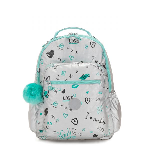 SEOUL GO Metallic Doodle BACKPACKS by Kipling Front