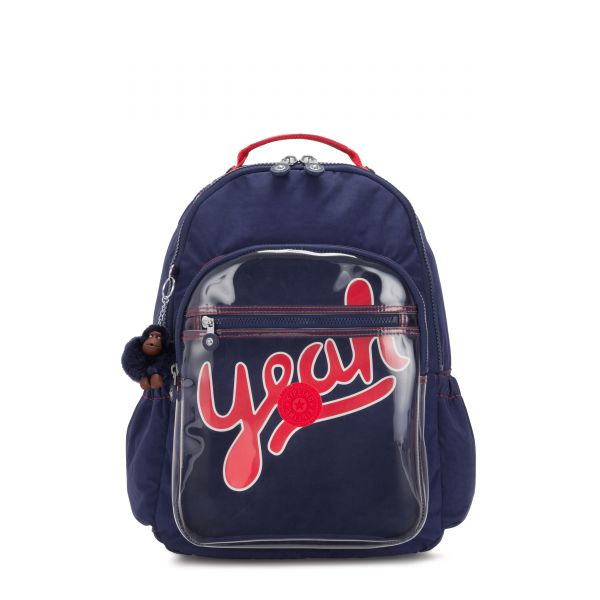 SEOUL GO Polished Bl Trans BACKPACKS by Kipling Front