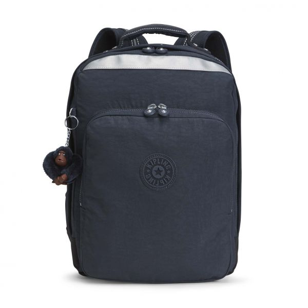 COLLEGE UP ESSENTIAL True Navy BACKPACKS by Kipling Front