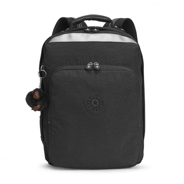 COLLEGE UP ESSENTIAL True Black BACKPACKS by Kipling Front