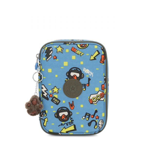 100 PENS Monkey Rock POUCHES/CASES by Kipling Front