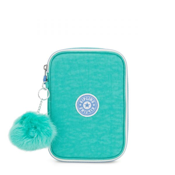 100 PENS Deep Aqua C POUCHES/CASES by Kipling Front