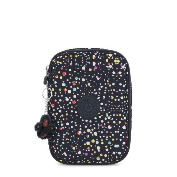 100 PENS Happy Dot Print POUCHES/CASES by Kipling Front