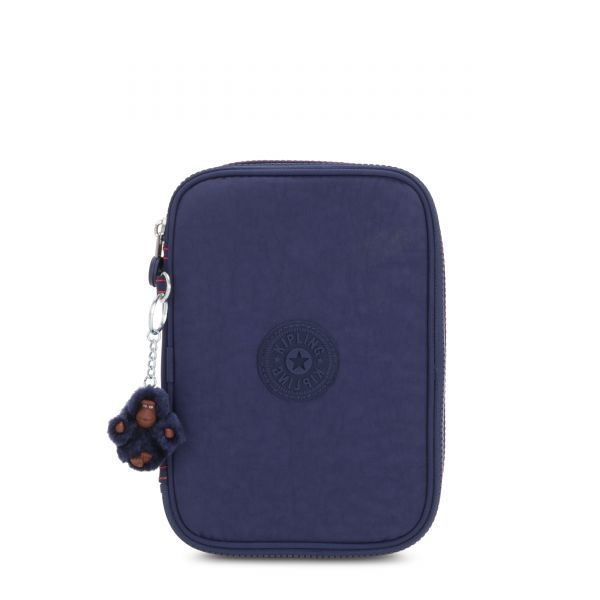 100 PENS Polished Blue C POUCHES/CASES by Kipling Front