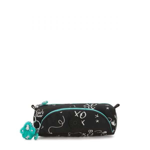 CUTE Girl Doodle POUCHES/CASES by Kipling Front