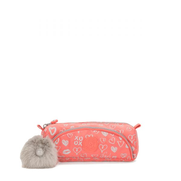 CUTE Hearty Pink Met POUCHES/CASES by Kipling Front