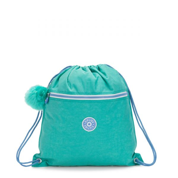 SUPERTABOO Deep Aqua C BACKPACKS by Kipling Front