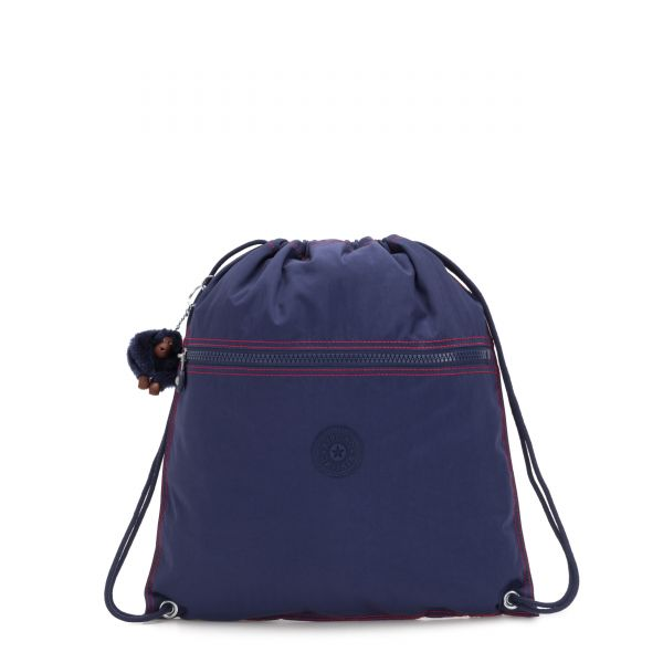SUPERTABOO Polished Blue C BACKPACKS by Kipling Front