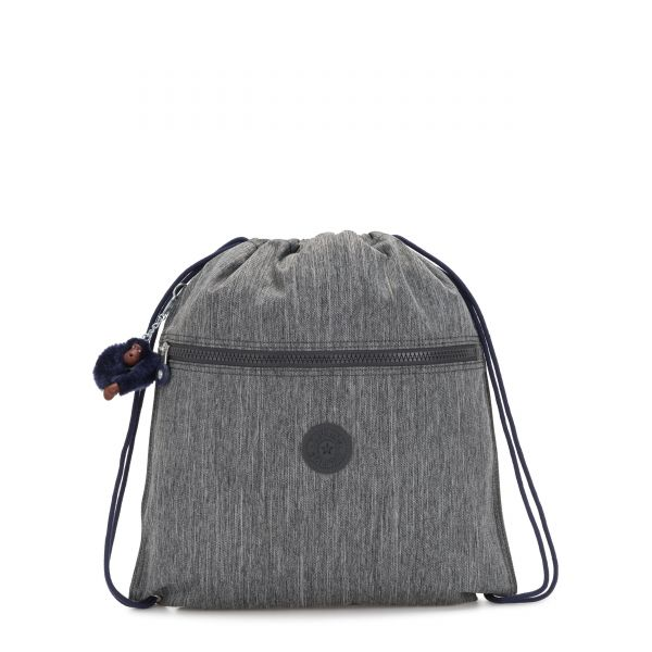 SUPERTABOO Ash Denim Bl BACKPACKS by Kipling Front