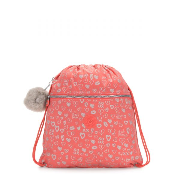 SUPERTABOO Hearty Pink Met BACKPACKS by Kipling Front