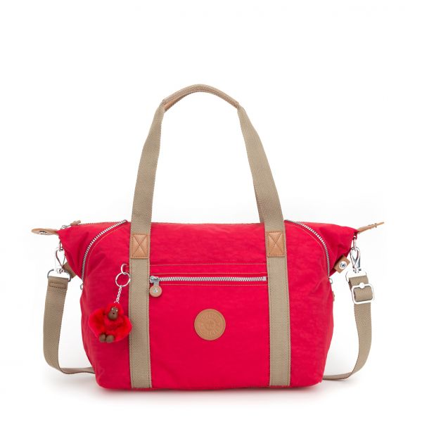 ART ESSENTIAL True Red C TOTE by Kipling Front