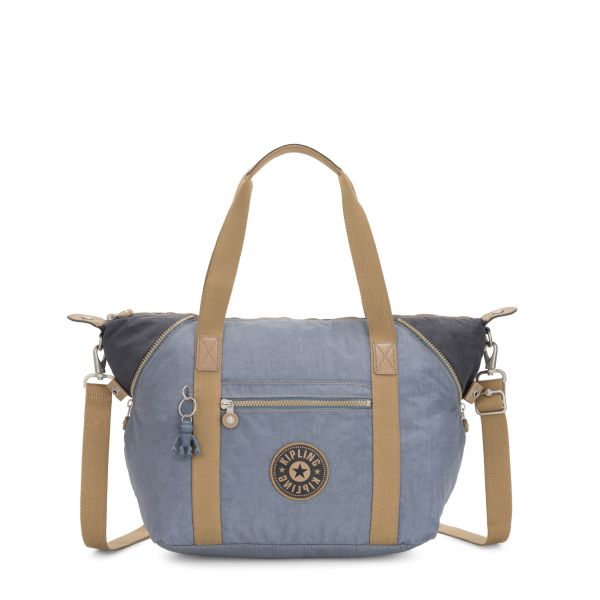 ART Stone Blue Block TOTE by Kipling Front