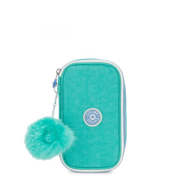 50 PENS Deep Aqua C POUCHES/CASES by Kipling Front
