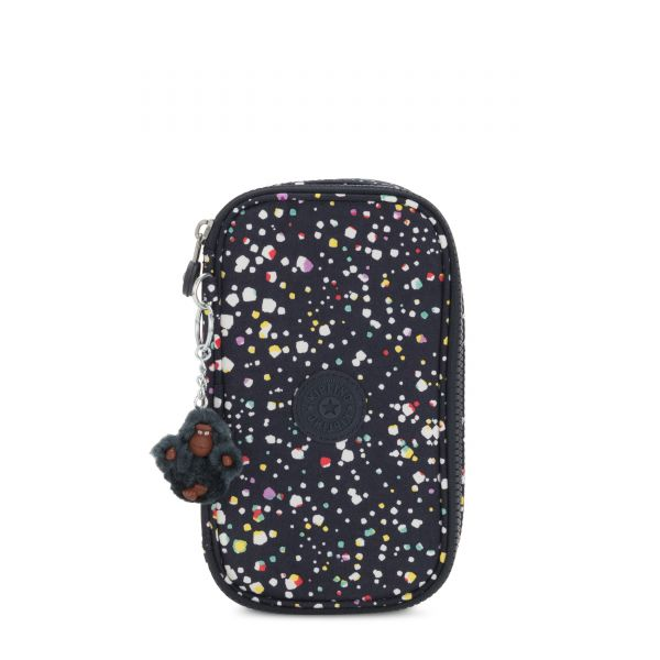 50 PENS Happy Dot Print POUCHES/CASES by Kipling Front