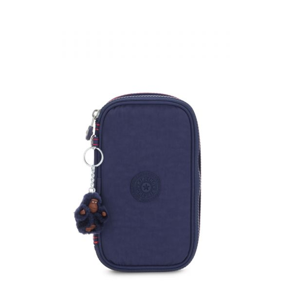 50 PENS Polished Blue C POUCHES/CASES by Kipling Front