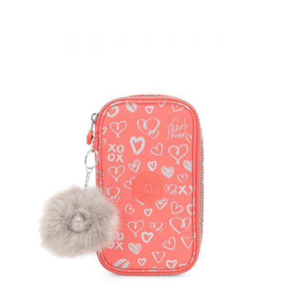 50 PENS Hearty Pink Met POUCHES/CASES by Kipling Front