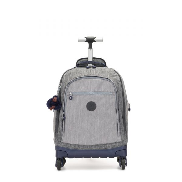 ECHO Ash Denim Bl WHEELED BACKPACKS by Kipling Front