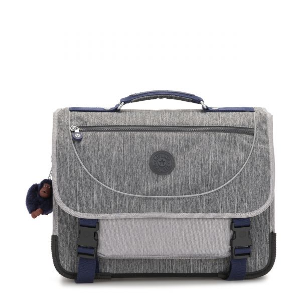 PREPPY Ash Denim Bl BACKPACKS by Kipling Front