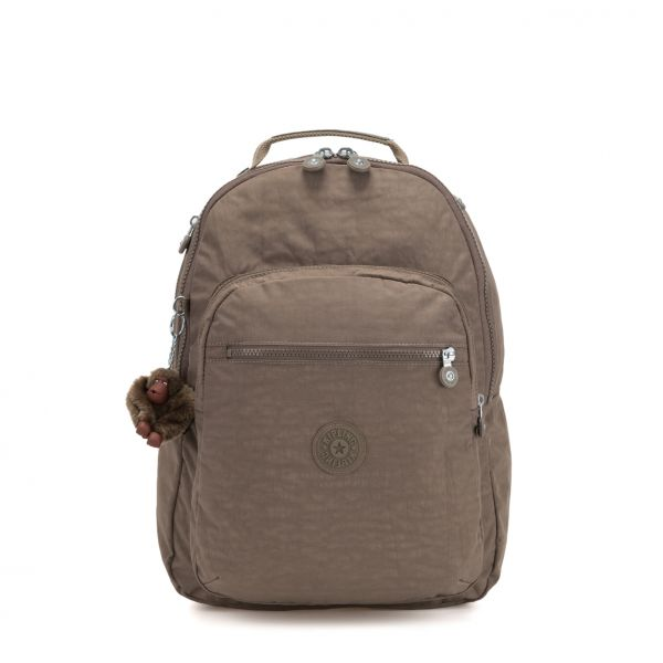 CLAS SEOUL ESSENTIAL True Beige BACKPACKS by Kipling Front