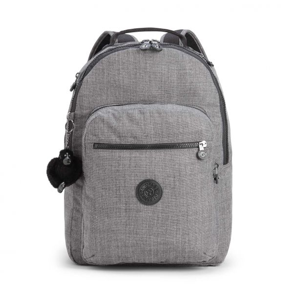 CLAS SEOUL ESSENTIAL Cotton Grey BACKPACKS by Kipling Front