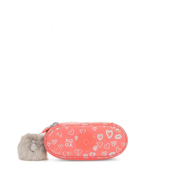 DUOBOX Hearty Pink Met POUCHES/CASES by Kipling Front