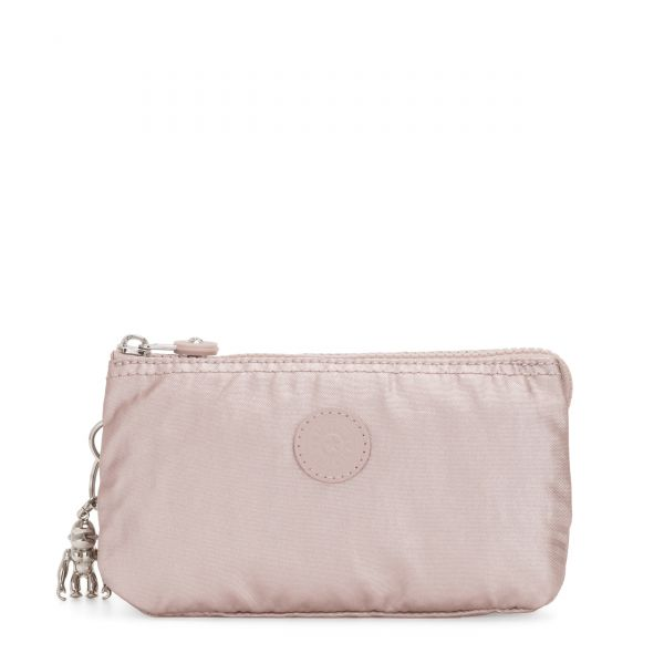 CREATIVITY L Metallic Rose POUCHES/CASES by Kipling Front