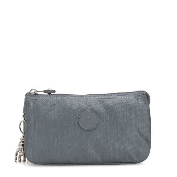 CREATIVITY L Steel Grey Metallic POUCHES/CASES by Kipling Front