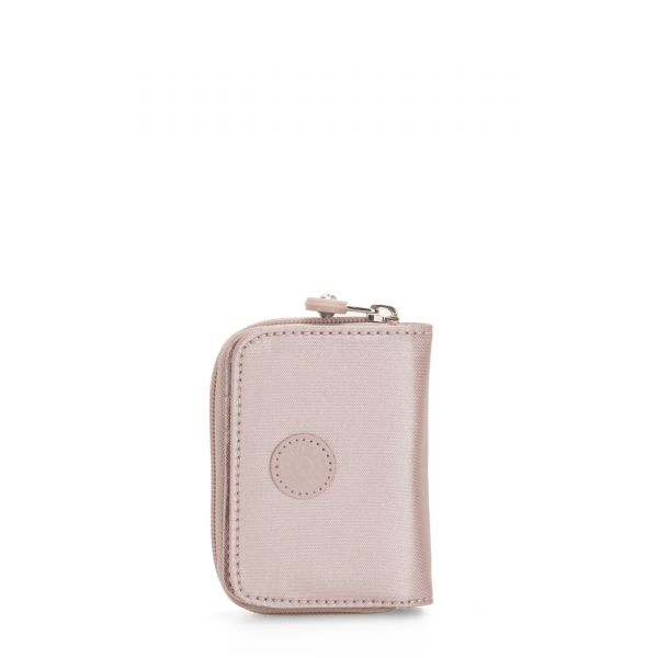 TOPS Metallic Rose WALLETS by Kipling Front