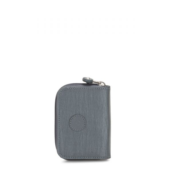 TOPS Steel Grey Metallic WALLETS by Kipling Front