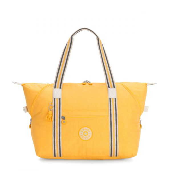 ART M Vivid Yellow TOTE by Kipling Front
