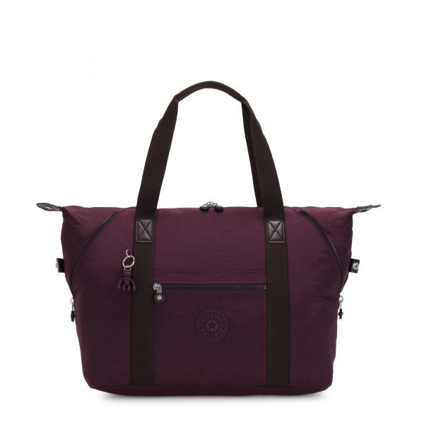ART M Dark Plum TOTE by Kipling Front
