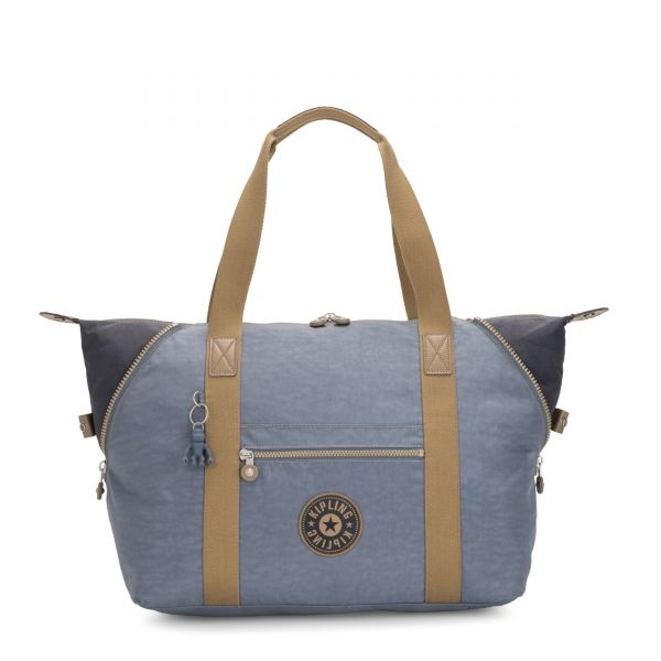 ART M Stone Blue Block TOTE by Kipling Front