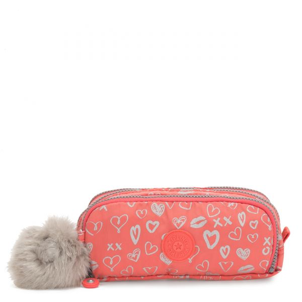 GITROY Hearty Pink Met POUCHES/CASES by Kipling Front