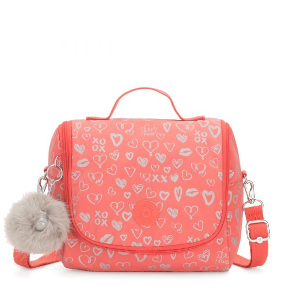 NEW KICHIROU Hearty Pink Met POUCHES/CASES by Kipling Front