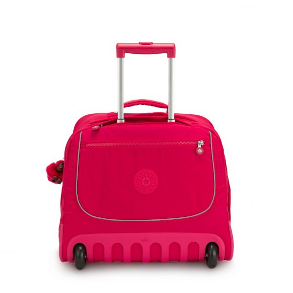 CLAS DALLIN True Pink WHEELED BACKPACKS by Kipling Front