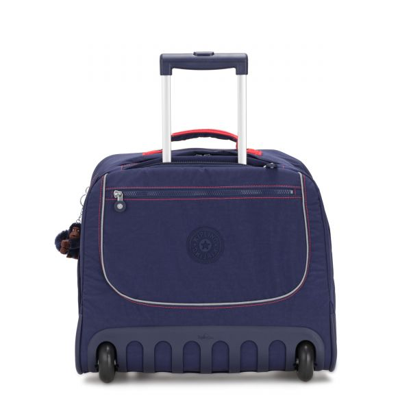 CLAS DALLIN Polished Blue C WHEELED BACKPACKS by Kipling Front
