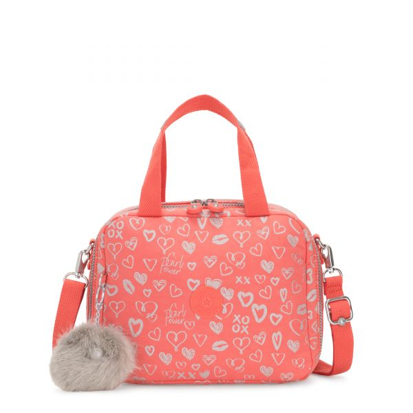 MIYO Hearty Pink Met POUCHES/CASES by Kipling Front