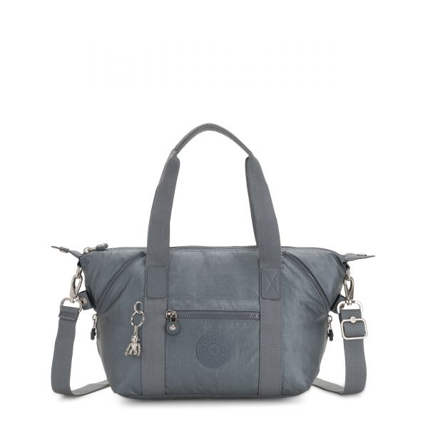 ART MINI Steel Grey Metallic SHOULDERBAGS by Kipling Front
