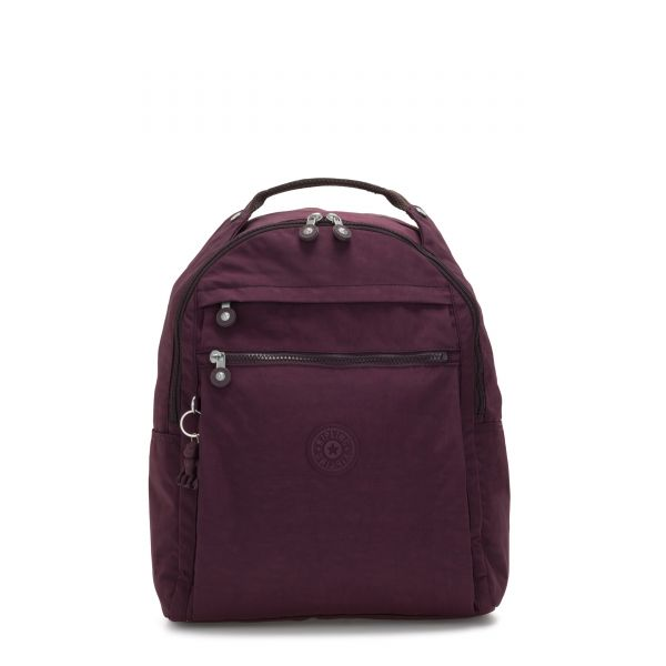 MICAH Dark Plum BACKPACKS by Kipling Front