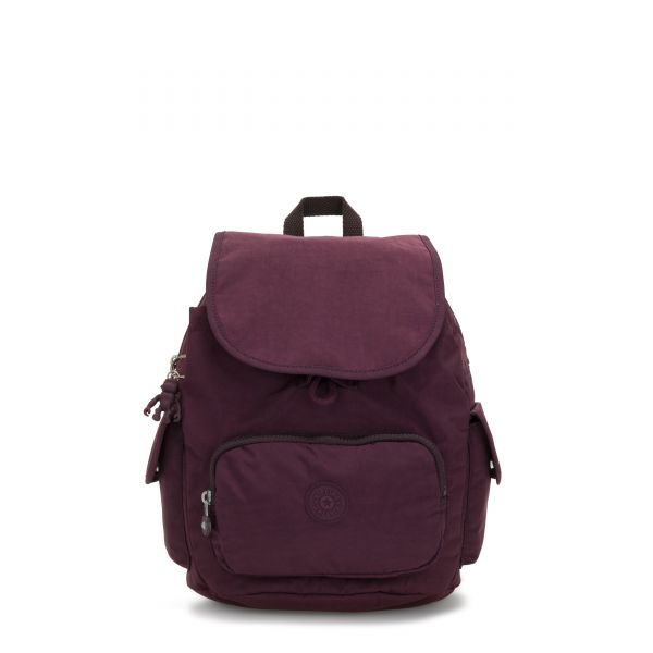 CITY PACK S Dark Plum BACKPACKS by Kipling Front