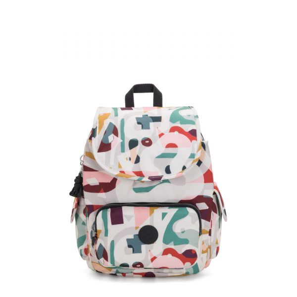 CITY PACK S Music Print BACKPACKS by Kipling Front