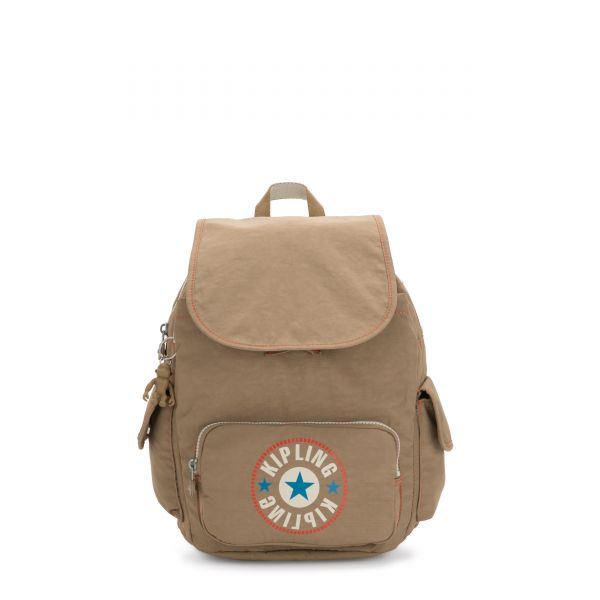 CITY PACK S Sand Block BACKPACKS by Kipling Front