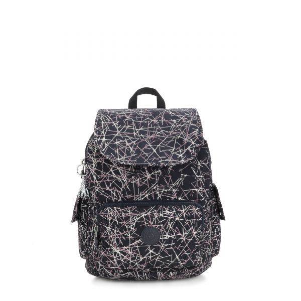 CITY PACK S Navy Stick Print BACKPACKS by Kipling Front